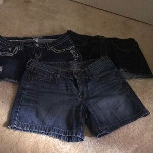 3 pairs of jean shorts size 4